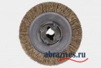 Стальная латунированная щетка диаметром 100мм на Makita 9741